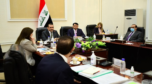 The Iraqi - Jordanian - Egyptian Coordinating Council discusses the agenda of the Iraqi delegation's visit to Cairo 2020-12-3-01