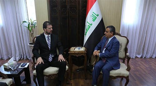 The Secretary General of the Council of Ministers shall deposit the Ambassador of the Czech Republic in Iraq on the occasion of the end of his duties 2018-12-13-2