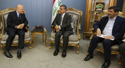 The Secretary-General of the Council of Ministers receives the United Nations Special Adviser and the Chairman of the Investigative Team to be held accountable for crimes that have been advocated 2019-01-14-1