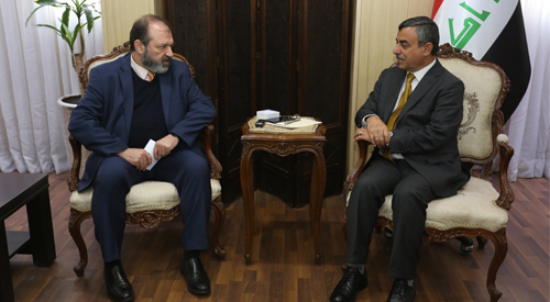 The Secretary General of the Council of Ministers receives the Country Director of the United Nations Program 2019-01-24-1