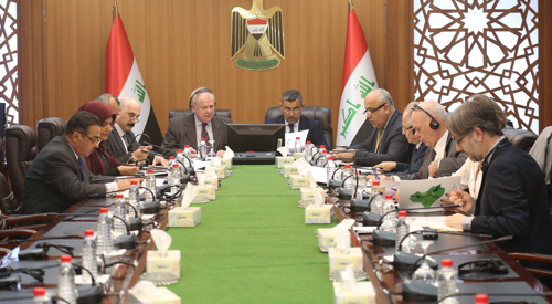 Secretary-General chairs the steering committee meeting of the pilot program (Federalism, Financial Decentralization and Capacity Building in Iraq) 2019-02-17-1