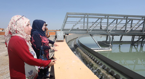 The follow-up team for the implementation of the government program visits the project of processing and implementing the first phase of the treatment plants in Hilla. 2019-07-31-04