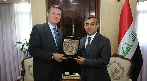 The Secretary-General of the Council of Ministers shall deposit the representative of the United Nations High Commissioner for Refugees on the occasion of the end of his duties in Iraq 2019-2-5