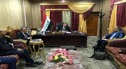Teams to follow up the implementation of the government program meet officials in the provinces of Basra and Dhi Qar 2019-9-15
